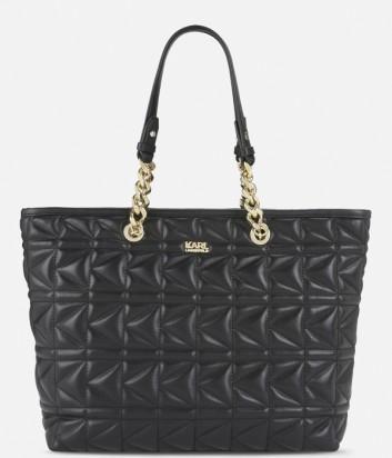 Сумка шоппер Karl Lagerfeld Kuilted в стеганной коже черная