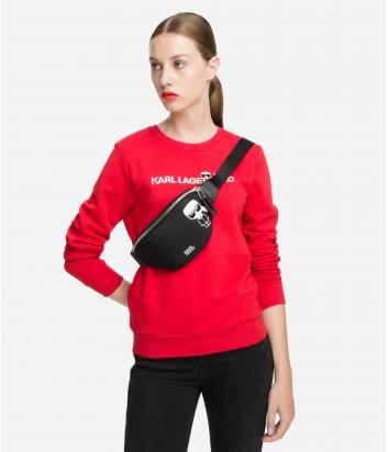 Нейлоновая сумка на пояс Karl Lagerfeld Karl Ikonik черная