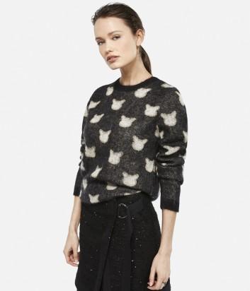 Принтованный свитер Karl Lagerfeld CHOUPETTE с люрексом