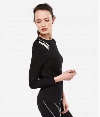 Черный топ Karl Lagerfeld с разрезом на молнии