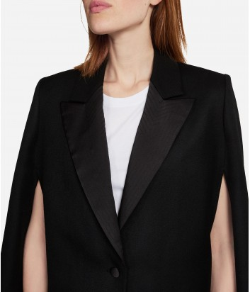 Классическая накидка Karl Lagerfeld из шерсти черная