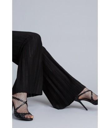 Широкие брюки TWIN-SET PA83CE из плиссированного трикотажа с люрексом