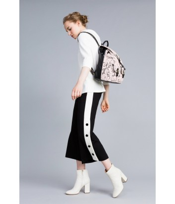 Укороченные брюки TWIN-SET PA821Р черные с контрастными лампасами