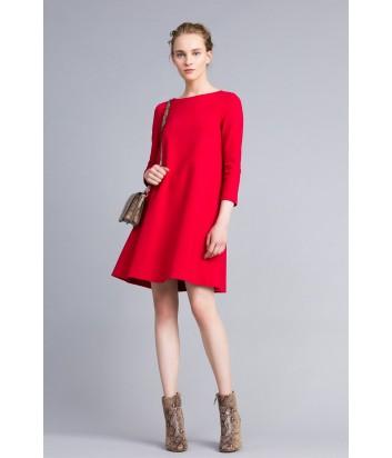 Платье трапеция TWIN-SET PA821U красное