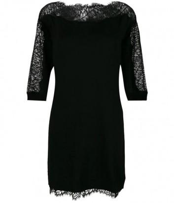 Черное платье TWIN-SET PA83EN с кружевными вставками