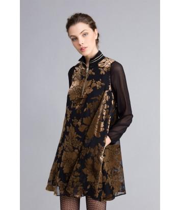 Платье TWIN-SET PA82М5 из цветочного бархата-деворе
