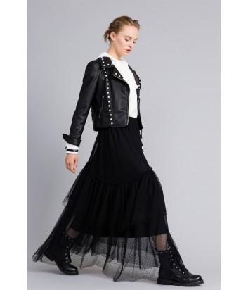 37dcf844ee1 Пышная макси-юбка TWIN-SET PA82В5 черная в горох - купить в Интернет ...