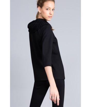 Джемпер-блуза TWIN-SET PA8215 с мягким трикотажным воротом черный