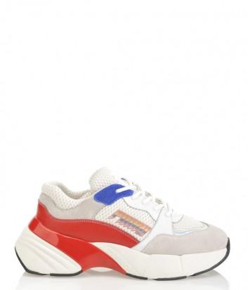 Белые кроссовки PINKO 1H20LZ с цветными вставками