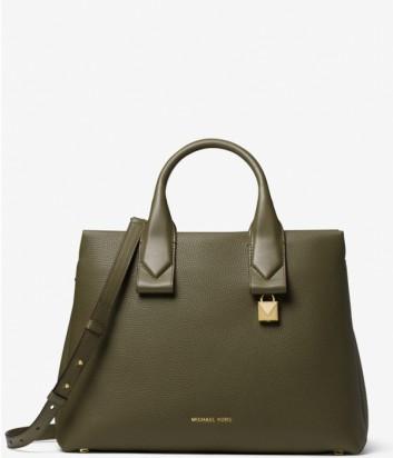 Вместительная сумка Michael Kors Rollins в мягкой коже оливковая