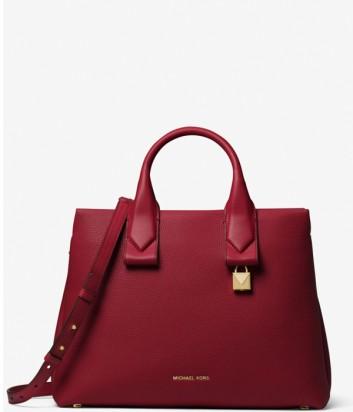 Вместительная сумка Michael Kors Rollins в мягкой коже бордовая