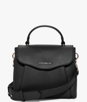 Кожаная сумка Coccinelle Andromeda Mini с откидным клапаном черная
