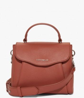 fe279cdc349f Кожаная сумка Coccinelle Andromeda Mini с откидным клапаном рыжая ...