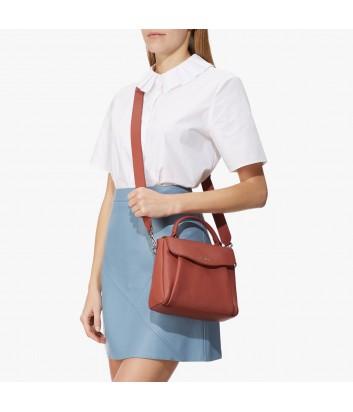 Кожаная сумка Coccinelle Andromeda Mini с откидным клапаном рыжая