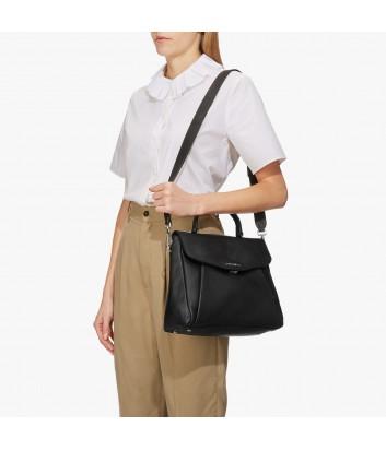 Кожаная сумка Coccinelle Andromeda Medium с откидным клапаном черная