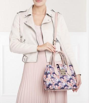 Кожаная сумка Furla Metropolis 941875 нежно-розовая с ярким принтом
