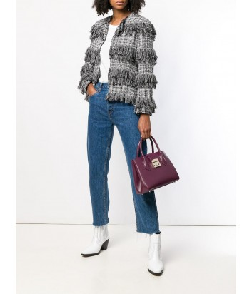 Кожаная сумка Furla Metropolis 993761 с короткими ручками вишневая