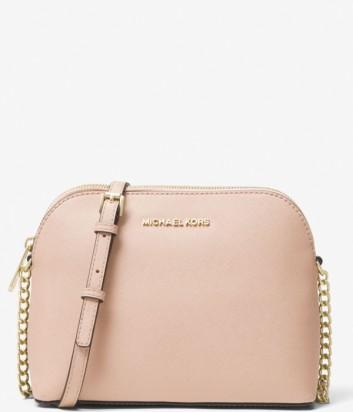 Сумка через плечо Michael Kors Cindy из кожи сафьяно розовая