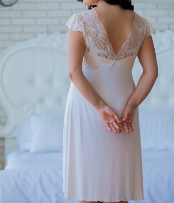 Женская ночная рубашка Effetto 0264 кремовая
