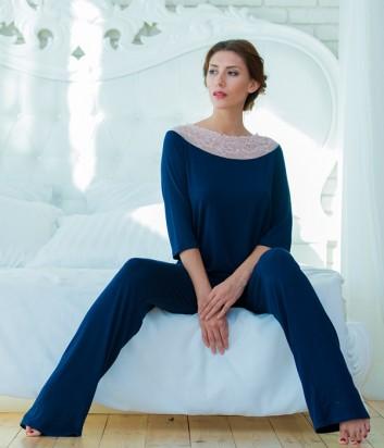 Женская пижама Effetto 0259 синяя