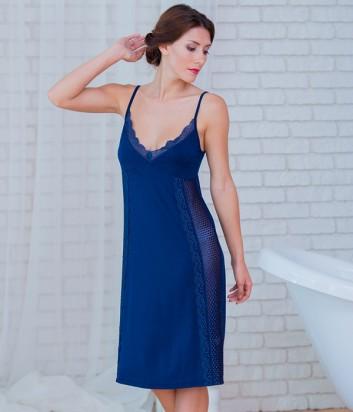 Женская ночная рубашка Effetto 0260 синяя