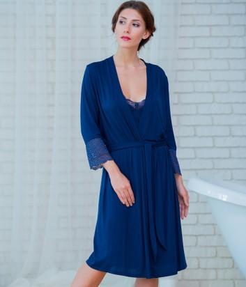 Женский халат Effetto 0261 синий