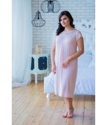 Женская ночная рубашка Effetto 0255B цвета пудры