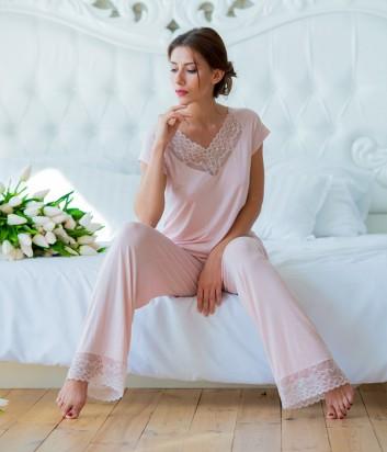 Женская пижама Effetto 0258 цвета пудры