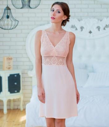 Женская ночная рубашка Effetto 0251 персиковая