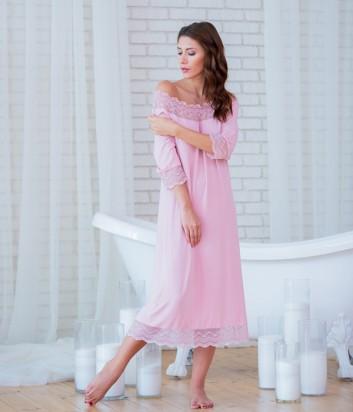 Женская ночная рубашка Effetto 0250 розовая