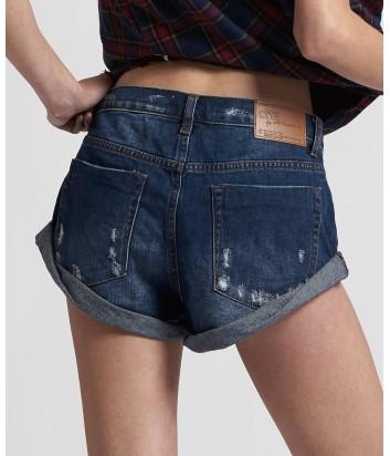 Женские джинсовые шорты One Teaspoon 21371 темно-синие