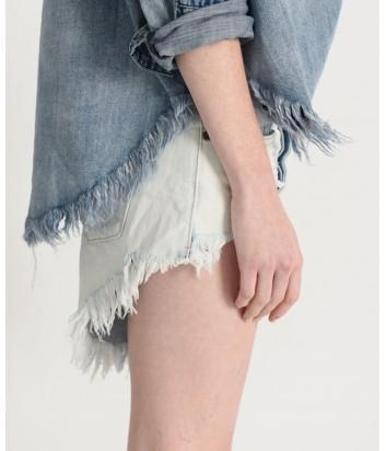 Женские джинсовые шорты One Teaspoon 21383 светло-голубые