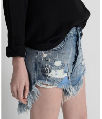 Женские джинсовые шорты One Teaspoon 21461 с декором