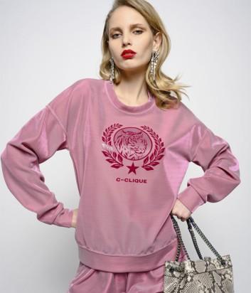 Свитшот PINKO 1C101U с люрексом нежно-розовый