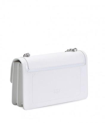 Белая кожаная сумка PINKO Love Bag 1P21A6 с откидным клапаном
