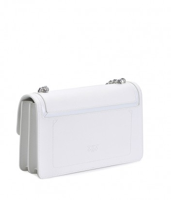 Сумка на цепочке PINKO Love Bag 1P21A6 в зернистой коже белая
