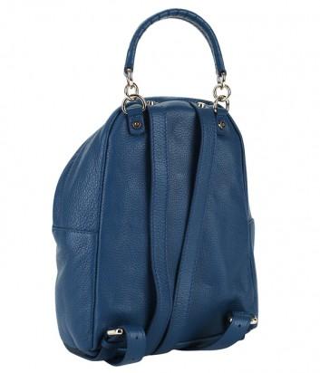 Маленький кожаный рюкзак Coccinelle Leonie сапфирового цвета