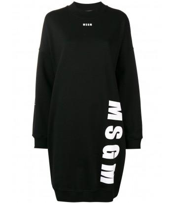 Черное платье MSGM 2541MDA69 с надписями