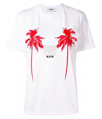 Белая футболка MSGM 2641MDM166 с ярким принтом