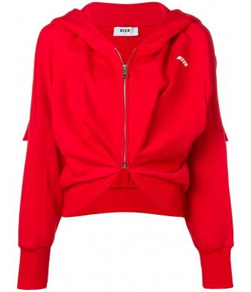 Красная олимпийка MSGM 2641MDM74 с капюшоном