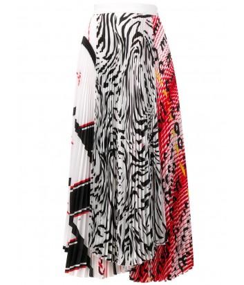 Асимметричная юбка-плиссе MSGM 2641MDD36P с различными принтами