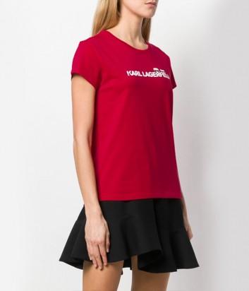 Красная футболка Karl Lagerfeld 91KW1740 с надписью
