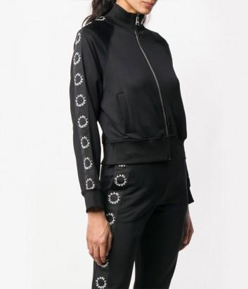 Черная олимпийка Karl Lagerfeld 91KW1707 с брендированными лампасами