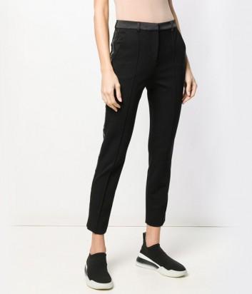 Черные брюки Karl Lagerfeld 91KW1002 с брендированной тесьмой по бокам
