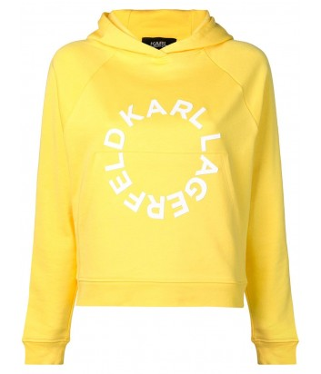 Желтая толстовка Karl Lagerfeld 91KW1712 с капюшоном