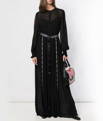 Полупрозрачное макси-платье Karl Lagerfeld 91KW1313 с декоративной отделкой на швах