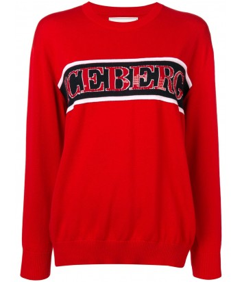 Красная кофта ICEBERG 7604 с логотипом