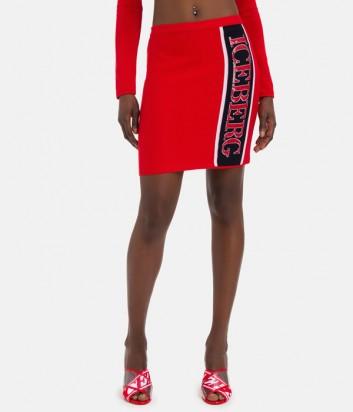 Красная трикотажная юбка ICEBERG 7604 с логотипом