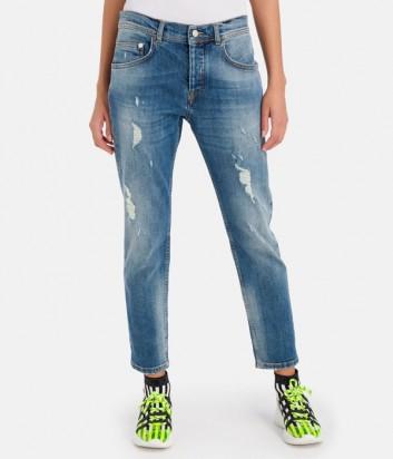 Женские джинсы ICEBERG 6007 с эффектом потертостей