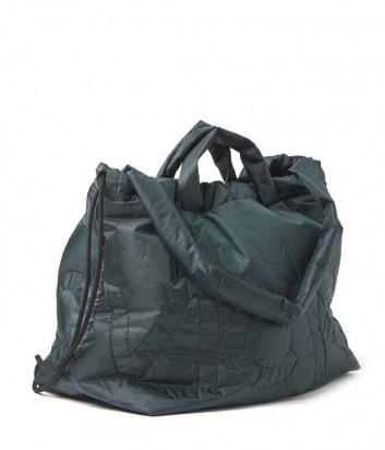 Вместительная сумка-шоппер Vic Matie с вышивкой зеленая